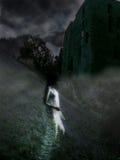 Castelo assombrado imagem de stock