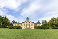 Castelo barroco do Belvedere construído para festas em casa em Weimar, Thur imagens de stock