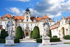 Castelo barroco Valtice (UNESCO), república checa Imagem de Stock
