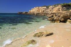 Castelo beach shore break Stock Photo