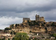 Castelo Beynac - França fotos de stock