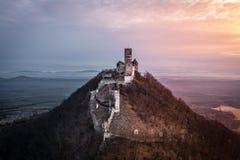 Castelo Bezdez na rep?blica checa fotos de stock royalty free