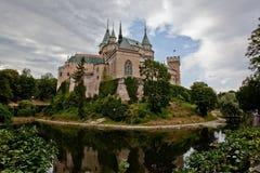 Castelo Bojnice, Eslováquia foto de stock