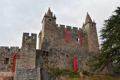 Castelo bonito em Santa Maria da Feira imagens de stock royalty free