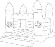Castelo Bouncy em branco Fotografia de Stock