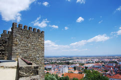 Castelo Branco from the castle Stock Photography