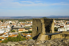 Castelo Branco, Portugal. View to Castelo Branco from the castle, Portugal Royalty Free Stock Photography