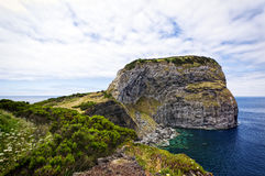 Castelo Branco rock, Faial Island Stock Images