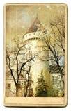 Castelo - cartão do vintage Imagens de Stock Royalty Free
