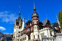 Castelo Castelul PeleÈ™ Sinaia de Peles, Romênia Fotografia de Stock