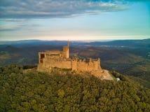 Castelo Catalonia de Montsoriu imagem de stock