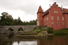Castelo Cervena Lhota, república checa Imagens de Stock