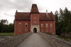 Castelo Cervena Lhota, república checa Imagem de Stock
