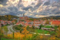 Castelo Cesky Krumlov, república checa Imagens de Stock