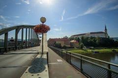 Castelo checo de Decin Fotografia de Stock