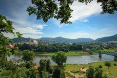 Castelo checo de Decin Fotos de Stock Royalty Free