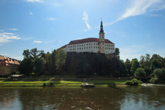 Castelo checo de Decin Imagens de Stock Royalty Free