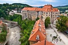 Castelo checo de Krumlov Fotografia de Stock Royalty Free