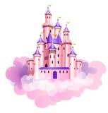 Castelo cor-de-rosa da princesa ilustração do vetor