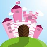 Castelo cor-de-rosa do vetor Imagens de Stock Royalty Free