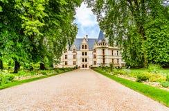 Castelo d' Azay le Rideau na área de Loire Valley em França foto de stock