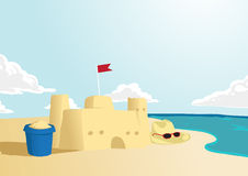 Castelo da areia Imagens de Stock Royalty Free