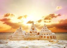 Castelo da areia Fotografia de Stock Royalty Free