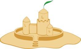 Castelo da areia ilustração do vetor