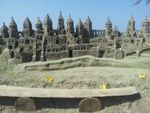 Castelo da areia, Boca Grande, Cartagena de Índia fotos de stock