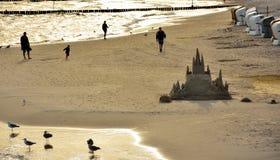 Castelo da areia em Kolobrzeg Foto de Stock