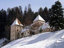 Castelo da caça do castelo de Fischburg aka Gardena no Selva Val Gardena aka Santa Christina Italy Fotografia de Stock Royalty Free