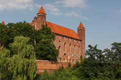 Castelo da cidade de Gniew Fotos de Stock Royalty Free
