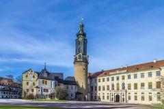 Castelo da cidade, Weimar foto de stock