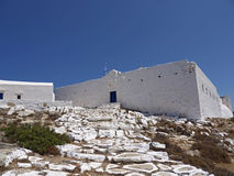 Castelo da ilha de Sikinos, Grécia Fotos de Stock Royalty Free