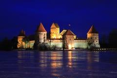 Castelo da ilha de Trakai. fotografia de stock royalty free