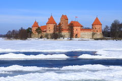 Castelo da ilha de Trakai. Fotos de Stock