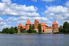Castelo da ilha de Trakai. imagens de stock