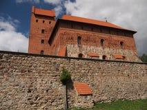 Castelo da ilha de Trakai (Lituânia) Imagens de Stock
