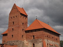 Castelo da ilha de Trakai (Lituânia) Foto de Stock Royalty Free