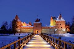 Castelo da ilha em Trakai imagens de stock royalty free