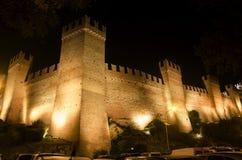 Castelo da noite de Gradara Fotografia de Stock Royalty Free