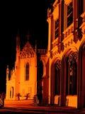 Castelo da noite - refrigerador imagens de stock