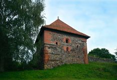 Castelo da península de Trakai, Trakai, Lituânia Foto de Stock Royalty Free