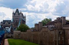 Castelo da ponte da torre, Londres, Inglaterra Imagens de Stock Royalty Free