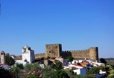 Castelo da vila de Terena Fotos de Stock Royalty Free