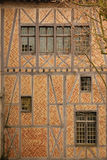 Castelo das contagens Teste padrão de desenhos em espinha Carcassonne france Fotografia de Stock