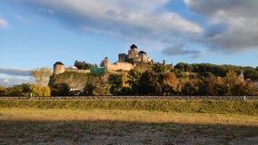 Castelo de Ãn do  de TrenÄ fotos de stock royalty free