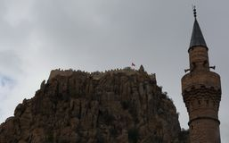 Castelo de Afyonkarahisar fotos de stock