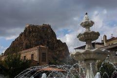Castelo de Afyonkarahisar imagens de stock royalty free