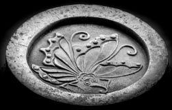 Castelo de Ageha Butterfly Mon Symbol At Himeji Imagens de Stock Royalty Free